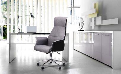 Кресло Brooklyn ткань серая - интерьер - фото 1