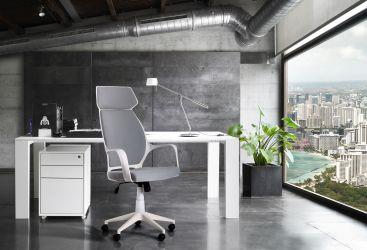 Кресло Concept белый, тк.черный - интерьер - фото 2