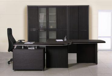 Шкаф книжный Оникс 900х400х2172 Венге прованс - интерьер - фото 3