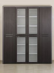 Шкаф книжный Оникс 900х400х2172 Венге прованс - интерьер - фото 16