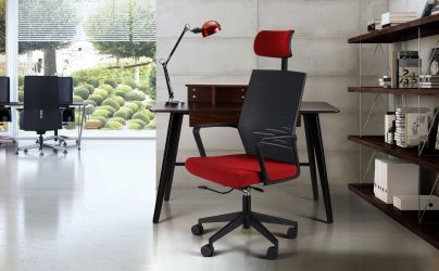 Кресло Nitrogen HB графит/бургунди - интерьер - фото 1