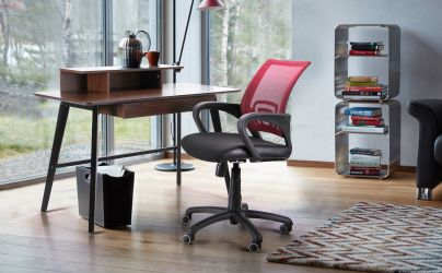 Кресло Веб сиденье Сетка черная/спинка Сетка синяя - интерьер - фото 1