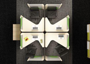 Кабина двойная Cobi фетр серый/фетр зеленый черный графит - интерьер - фото 4