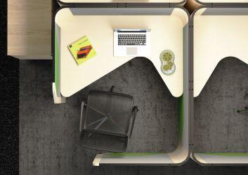 Кабина двойная Cobi фетр серый/фетр зеленый черный графит - интерьер - фото 3