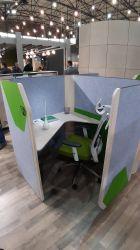 Кабина двойная Cobi фетр серый/фетр зеленый черный графит - интерьер - фото 9