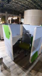 Кабина двойная Cobi фетр серый/фетр зеленый черный графит - интерьер - фото 11