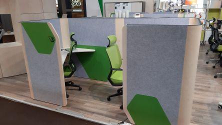 Кабина двойная Cobi фетр серый/фетр зеленый черный графит - интерьер - фото 13