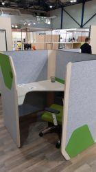 Кабина двойная Cobi фетр серый/фетр зеленый черный графит - интерьер - фото 14