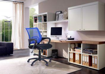 Кресло Веб сиденье Сетка черная/спинка Сетка синяя - интерьер - фото 3