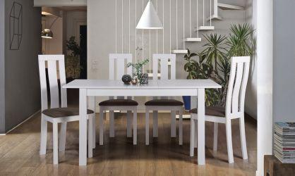 Стол обеденный раздвижной Норман белый - интерьер - фото 2