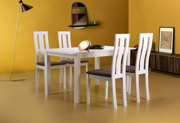 Стол обеденный раздвижной Норман белый - интерьер - фото 1