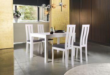Стол обеденный раздвижной Норман белый - интерьер - фото 3