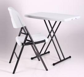 Стол Грув 76*50*42.5-70 пластик белый - интерьер - фото 4