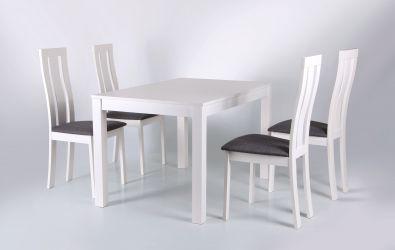 Стол обеденный раздвижной Норман белый - интерьер - фото 6
