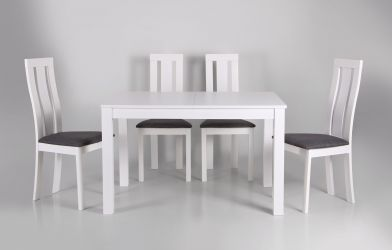 Стол обеденный раздвижной Норман белый - интерьер - фото 7