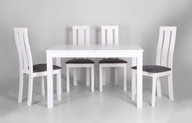 Стол обеденный раздвижной Норман белый - интерьер - фото 8
