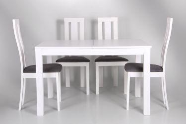 Стол обеденный раздвижной Норман белый - интерьер - фото 9