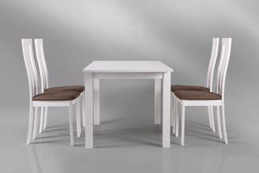 Стол обеденный раздвижной Норман белый - интерьер - фото 10