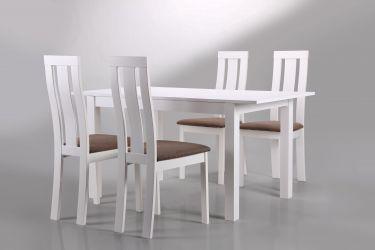 Стол обеденный раздвижной Норман белый - интерьер - фото 11