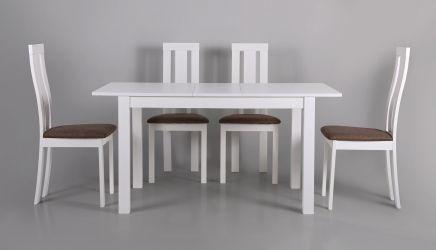 Стол обеденный раздвижной Норман белый - интерьер - фото 13