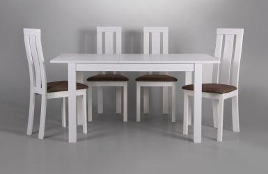 Стол обеденный раздвижной Норман белый - интерьер - фото 14
