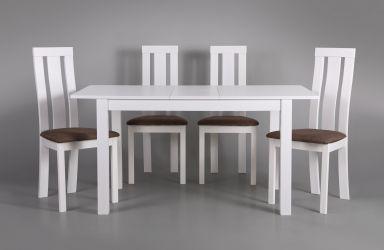 Стол обеденный раздвижной Норман белый - интерьер - фото 15