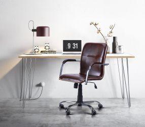Кресло Самба-RC Хром орех Неаполь N-36 с кантом - интерьер - фото 3