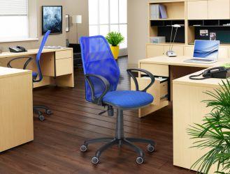 Кресло Oxi/АМФ-4 сиденье Сетка черная/спинка Сетка лайм - интерьер - фото 1