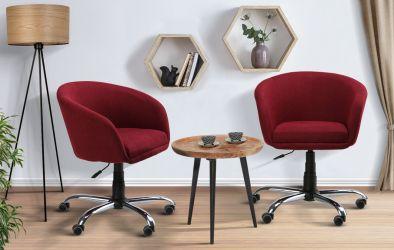 Кресло Дамкар Хром Неаполь N-17 на роликах - интерьер - фото 2