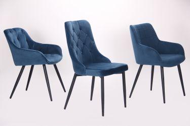 Кресло Katrine black/light sapphire - интерьер - фото 4
