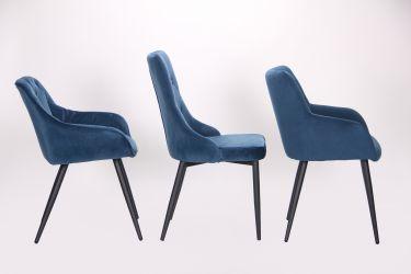 Кресло Katrine black/light sapphire - интерьер - фото 3