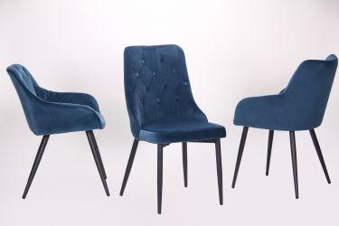 Кресло Katrine black/light sapphire - интерьер - фото 2