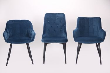 Кресло Katrine black/light sapphire - интерьер - фото 1