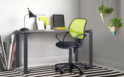 Кресло Байт/АМФ-4 сиденье Сетка черная/спинка Сетка лайм - интерьер - фото 17