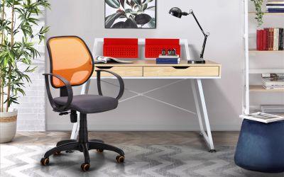 Кресло Бит Color/АМФ-8 сиденье Сетка серая/спинка Сетка оранжевая - интерьер - фото 15
