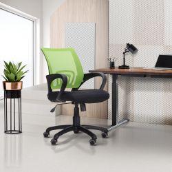 Кресло Веб сиденье Сетка черная/спинка Сетка синяя - интерьер - фото 4