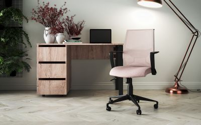 Кресло Tin сиденье Саванна nova Black 19/спинка Сетка SL-16 серая - интерьер - фото 3