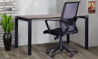 Кресло Tin сиденье Саванна nova Black 19/спинка Сетка SL-16 серая - интерьер - фото 2