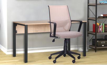 Кресло Tin сиденье Саванна nova Black 19/спинка Сетка SL-16 серая - интерьер - фото 1