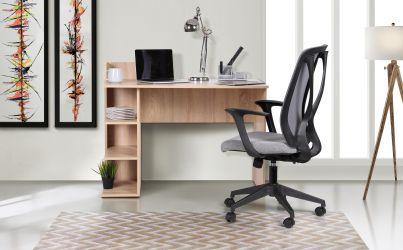 Кресло Nickel White сиденье Сидней 07/спинка Сетка SL-00 черная - интерьер - фото 4